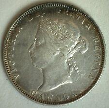 1874 H Canada 25 Twenty Five Cent Coin Silver You Grade Victoria