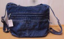 Women Stonewashed Denim Jeans Solid Color Big Handbags Backpack Bag