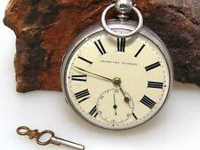 IMPROVED PATENT Taschenuhr | Schlüsselaufzug | Silber