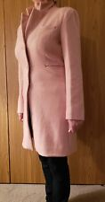 Made For Loving Wool-Blend Trench Coat Women Pale Pink Slim Fit Size L