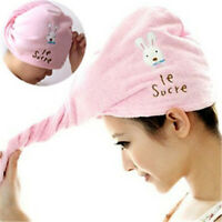 Bathing Quick drying Shower Cap Microfiber Turban Dry Hair Hats Wrapped Towel