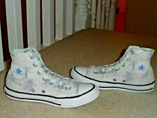 CONVERSE ALL STAR JUNIOR HI-TOP PALM TREES LILAC BOOTS TRAINERS UK 2 EUR 34 RARE