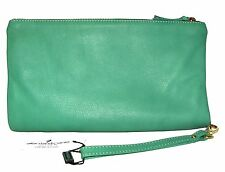 ALBERTA DI CANIO Mint Green Sauvage Leather purse Clutch ITALY NWT