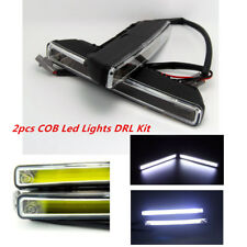 2PCS DC12V-24V Car SUV 20W COB 6000K Xenon White LED Light DRL Driving Fog Lamps