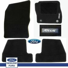 Genuine Ford Focus 2014-15 Car Black Carpet Mats Mat Set Of 4 *New* Tailored