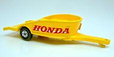 """Matchbox Superfast Nr. 38A nur der gelbe Motorrad Anhänger """"Honda"""""""