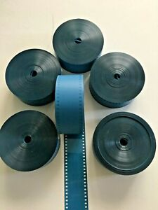 35MM solid Blue MOVIE FILM LEADER 100 FT FOR EDITING / PROJECTION & CAN