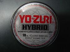 Yo-Zuri Hybrid Fluorocarbon 10 lb. 600yd Clear R656-CL Fishing Line 10lb. 600 yd