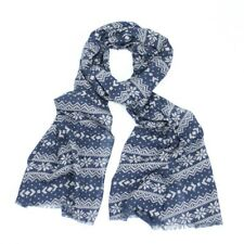 New Blue & White Large and soft, worn as a scarf or wrap Nordic Design
