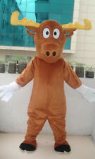 Xmas Cow Mascot Costumes Dress Professional Moose Outfit Festivals Party Cosplay
