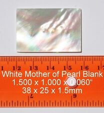 Inlay material white mother of pearl shell blanks 38x25 x 1.5mm or 1.500 x 1.000