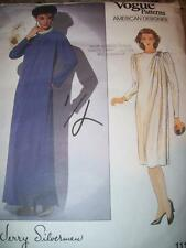 VOGUE #1117-DESIGNER JERRY SILVERMAN-LADIES FLOOR-KNEE LENGTH GOWN PATTERN 18FF