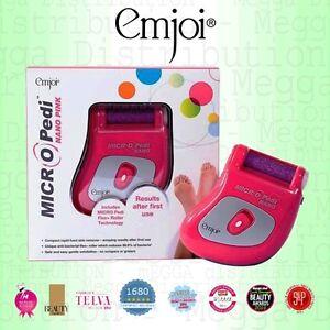 Emjoi Micro-Pedi Nano PINK Rough/Hard Skin Pedicure FLEX+ Mineral Roller Remover