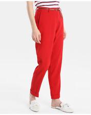 Pantaloni da donna rossi in poliestere taglia 42