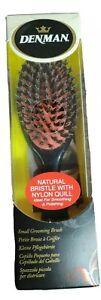Denman Grooming Hair Brush D81S Small Nylon Bristle Cushion Hairbrush Porcupine