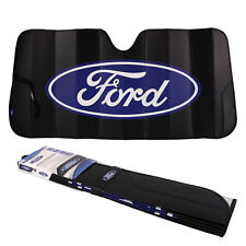 "New FORD Car Truck Black Windshield Front Folding Sun Shade Sunshade 27""x58"""