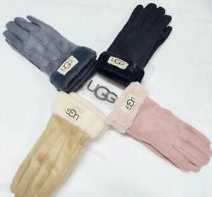 UGG Australia Gloves Women Winter Leather Free size