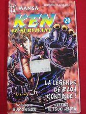 MANGAS KEN LE SURVIVANT TOME 20 HOKUTO NO KEN N°20 LA LEGENDE DE RAOH CONTINUE