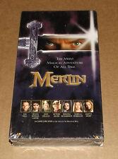 Merlin (VHS, 1998) NEW FACTORY SEALED Sam Neill Isabella Rossellini Martin Short
