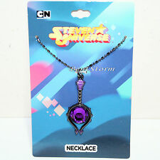 Cartoon Network Steven Universe Purple FAUX Amethyst Bead Pendant Chain Necklace