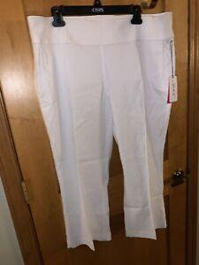 NWT JoFIT Belted Flare Capri Womens Golf Tennis Pants - size XXL -GB146-WHT $120