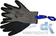 12 Paar NITRAS Nylotex Latex Arbeitshandschuhe 3520 Gr 10 + Handschuhclip GRATIS