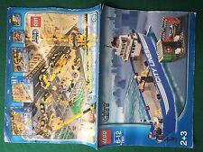 (Q6) LEGO CITY 7994 CATALOGO MONTAGGIO NAVE BOAT Brochure Prospekt KATALOG