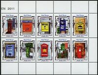 Aruba 2011 Briefkästen Brievenbussen Letter Mail Box Post 601-610 Postfrisch MNH