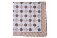 E. Marinella 100% Silk Scarf Pocket Tuch Schal Tissu  Bleu Soie   44x44