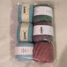 Lot of 6 Thread Skeins Various Knit Picks, Loop-d-Loop, Knit One Crochet Too ]