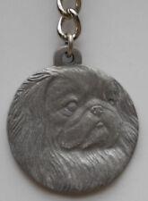 Pekingese Dog Pewter Key Chain, Rawcliffe Company