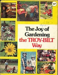 Vintage 1979 The Joy Of Gardening The Troy-Bilt Way Catalog