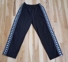 Men's 90s Vintage Kappa Black Side Stripe Logo Track Pants Size XL