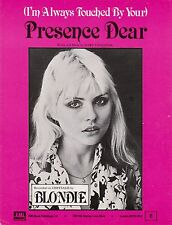 Blondie-Presence Dear-1978-Sheet Music-Original UK issue-Rare!