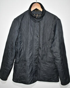Barbour Ladies Polarquilt Quilted Jacket Charcoal Grey Size UK 12 EUR 38 US 8