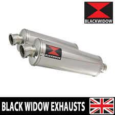 V-STROM DL1000 2002 03 04 05 06 07 08 09 Exhaust Silencers Oval Stainless 400SS