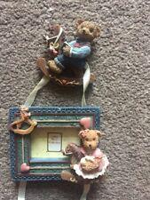 Teddy Bear Triple Photo Frame / Baptism Gift