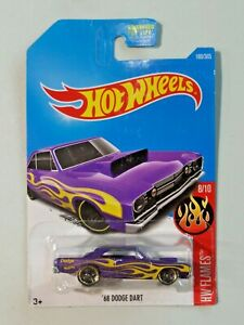 Hot Wheels Flames 8/10 '68 Dodge Dart Metalflake Dark Purple NEW Malaysia
