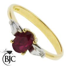 Anelli di lusso con gemme in oro giallo 18 carati diamante