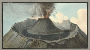 """William Hamilton : """"Crater of Mt. Vesuvius, Before 1767"""" (1776) — Fine Art Print"""