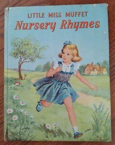 Vintage Book - Little Miss Muffet Nursery Rhymes - Hardback G. Higham Birn Bros