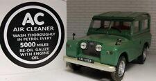 AC Vintage Bouchon Reniflard Étiquette Autocollant Blanc sur Noir Land Rover 1 2