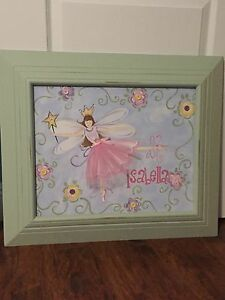 """Renditions by Reesa Frames hand painting Fairy tale ballerina """"Isabella"""""""