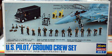 US Pilot & Ground Crew Set Flugzeug Deck Mannschaft Pilot 1:72 Hasegawa 35007