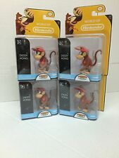 "*Nintendo Super Mario Bros 2.5"" Action Figure Diddy Kong x 4 -Cute Doll, Quality"