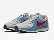 Nike AIR ZOOM PEGASUS 34 UK 9.5 EU 44.5 Running Gris/Bleu/Rouge