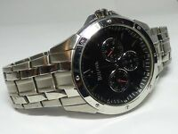 Bulova Stainless Steel Bracelet Day Date Black Dial 43mm 96C107 Mens Watch