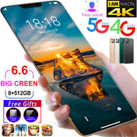 6.6 Inch i12Pro 8GB+128GB Android 10 Smartphone Full Screen 5000mAh Mobile Phone