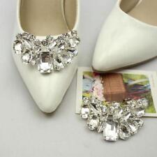 Rhinestone Crystal Bow Sparkle Bridal Wedding Shoe Clips Decorative Craft 2018