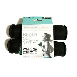 bebe Sport 2 Pounds Each Walking Hand Weights Blue 2lb Set